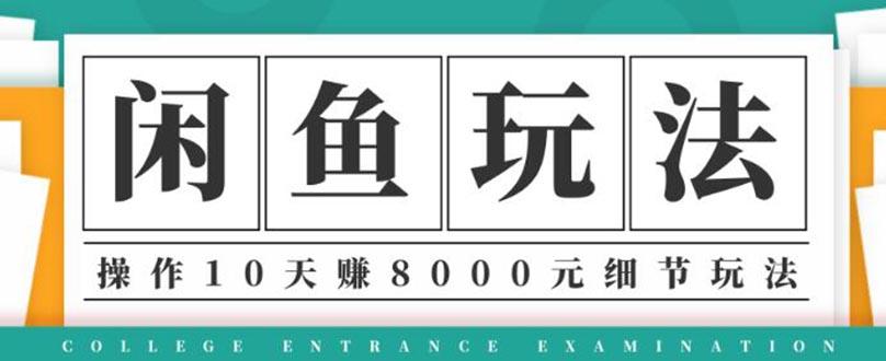 龟课闲鱼项目玩法实战班第12期教程:操作10天左右纯利润8000元玩法
