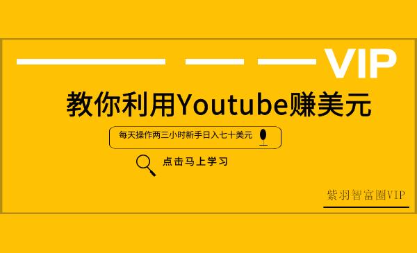 短视频赚钱项目:教你利用Youtube赚美元(新手日入七十美元)