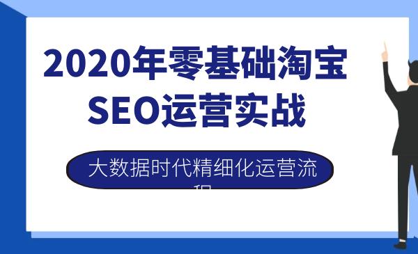 2020年零基础淘宝SEO运营实战(大数据时代精细化运营流程)
