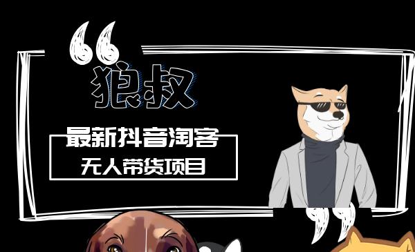 狼叔最新项目:抖音淘宝客无人带货赚钱项目(全套课程)