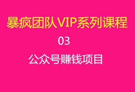 暴疯团队VIP系列课程03:公众号赚钱项目