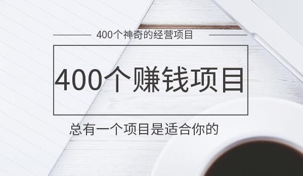 400个神奇的赚钱项目,另类经营