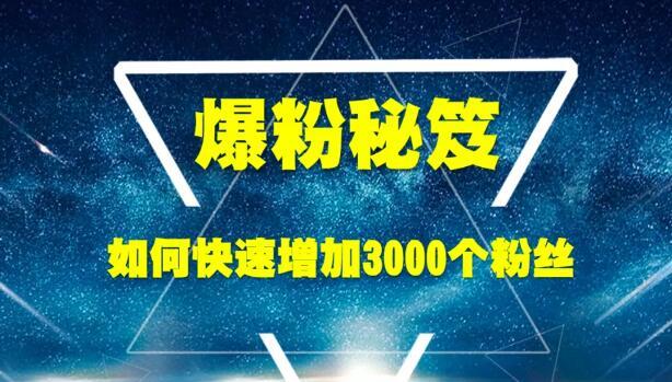 王通老师:《爆粉秘笈》如何快速增加3000个精准粉丝(无水印)