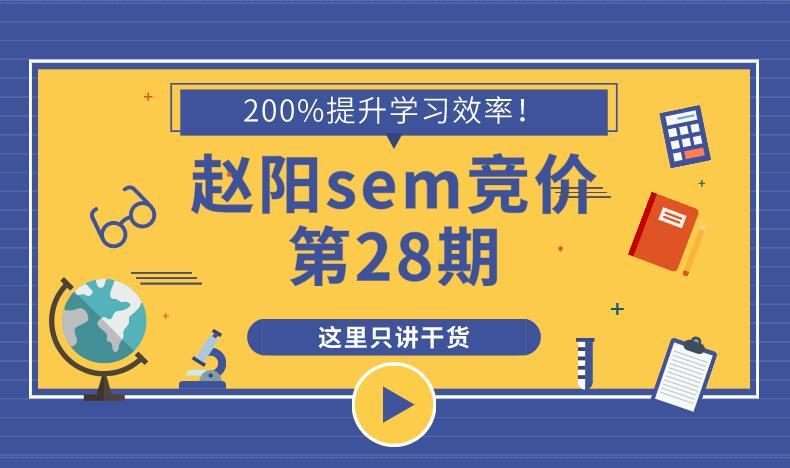 2019赵阳sem竞价第28期视频教程完结