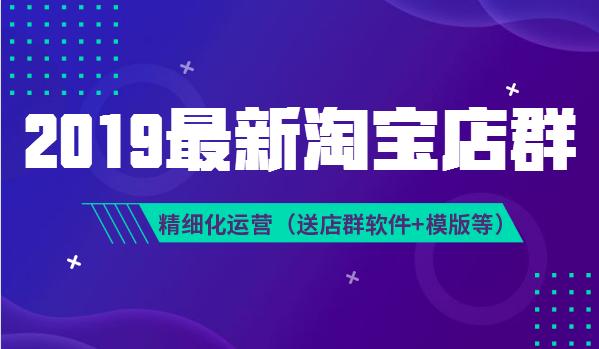 2019年VIP淘宝无货源店群总裁班-精细化店群运营