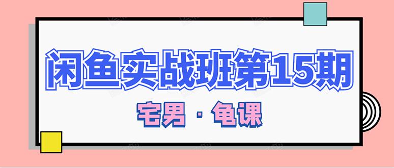 龟课 闲鱼无货源电商课程第15期(一个月收益几万)