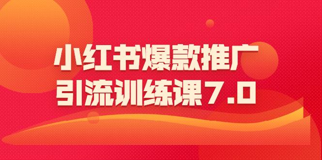 狼叔 小红书爆款推广引流训练课7.0(一部手机引流赚钱)