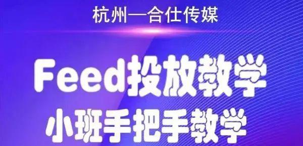 合仕传媒FEED投放教学,小班手把手教学